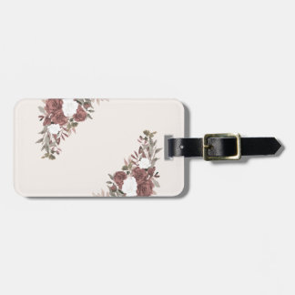 Floral Arrangement in Pink and Mauve Luggage Tag