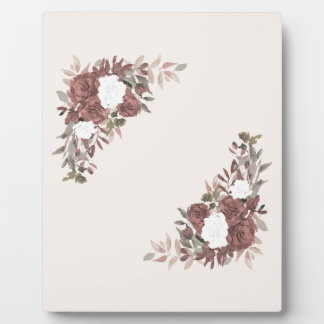Floral Arrangement in Pink and Mauve Plaque