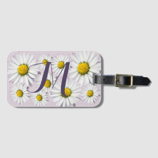 Floral Arrangement of White and Yellow Daisies Bag Tag