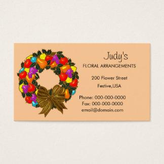 Floral Arrangements Business Card