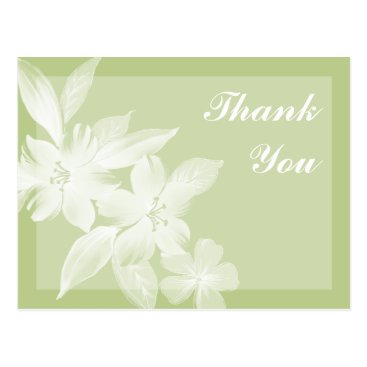 Professional Business Floral Art Business Thank You Postcards