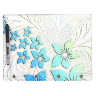 Floral Art Dry-Erase Whiteboard