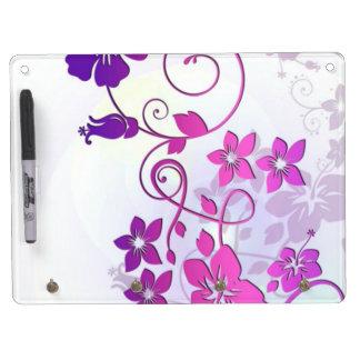 Floral Art Dry-Erase Board