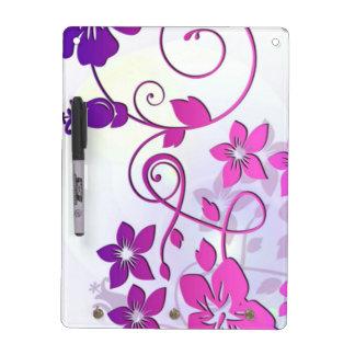 Floral Art Dry Erase Board