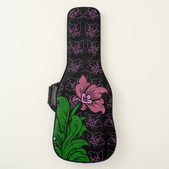 Floral art guitar case