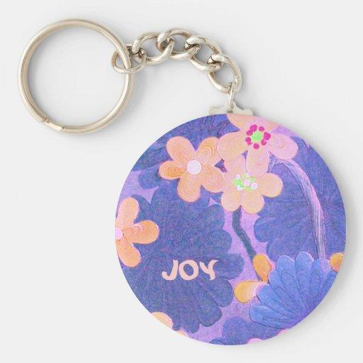 Floral art key ring keychain