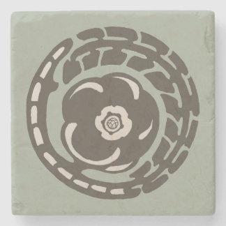 Floral Art Nouveau-era design Stone Coaster