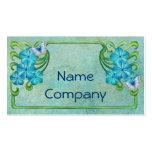 Floral Art Noveau Frame Business Card Templates