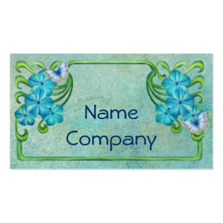 Floral Art Noveau Frame Double-Sided Standard Business Cards (Pack Of 100)