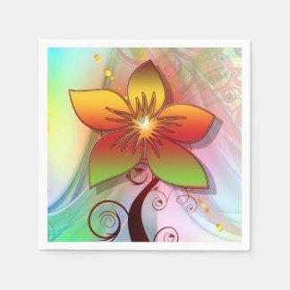 Floral Art Standard Cocktail Napkin