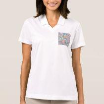 Floral Art Pattern Polo Shirt