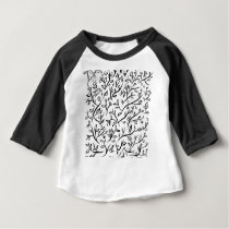floral art pattern texture design baby T-Shirt