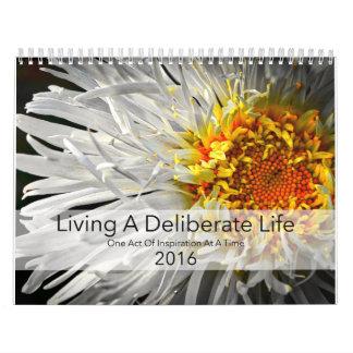 Floral Art Photography - Wall Calendar 2016