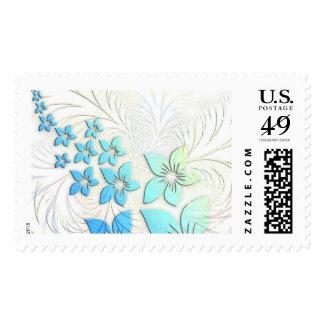 Floral Art Postage Stamp