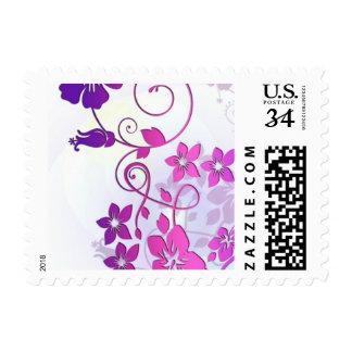 Floral Art Postage Stamps
