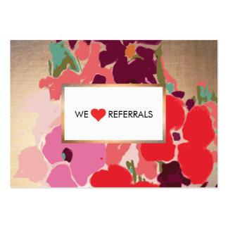Floral artístico colorido, remisión elegante del tarjetas de visita grandes