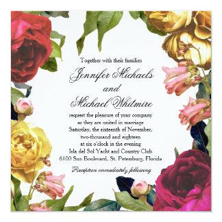 Floral Artistry Wedding Card