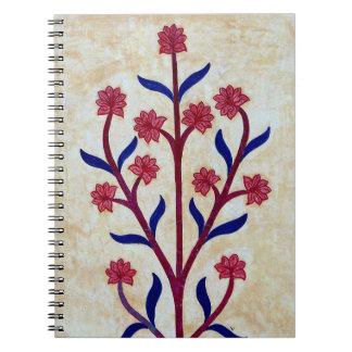 Floral Artwork at Amber Fort (2) Spiral Notebook