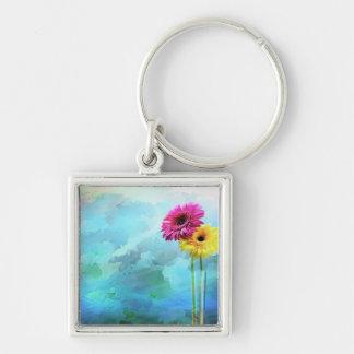 Floral Artwork Keychain