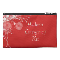 Floral Asthma Emergency Kit Travel Bag