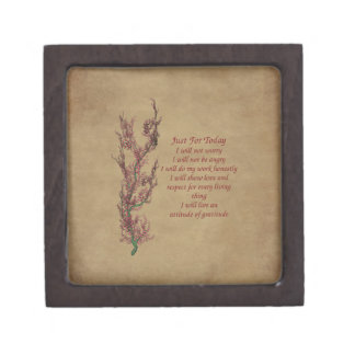 Floral Attitude Inspirational Quote Gift Box