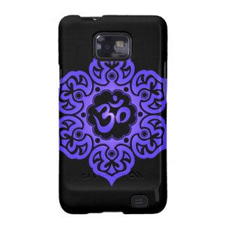 Floral Aum Design – blue and black Samsung Galaxy Case