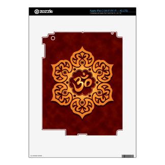 Floral Aum Design, golden red Decals For iPad 3