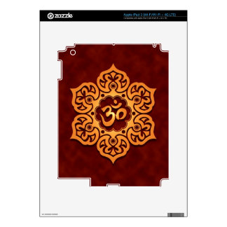 Floral Aum Design, golden red Decals For iPad 3