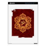 Floral Aum Design, golden red Skins For iPad 3