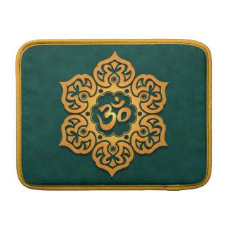 Floral Aum Design, golden teal MacBook Air Sleeve
