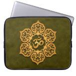 Floral Aum Design, green Laptop Sleeve