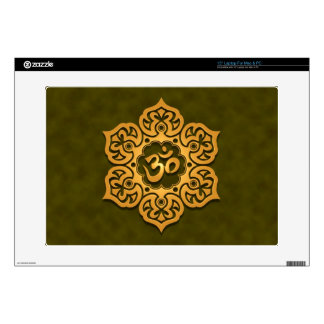 Floral Aum Design, green Laptop Skin