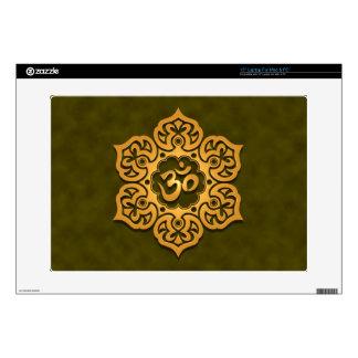 "Floral Aum Design, green Skin For 15"" Laptop"