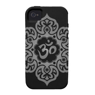 Floral Aum Design – grey Vibe iPhone 4 Covers