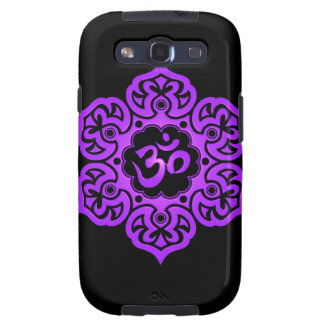 Floral Aum Design – purple and black Samsung Galaxy SIII Case