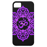 Floral Aum Design – purple and black iPhone 5 Cases