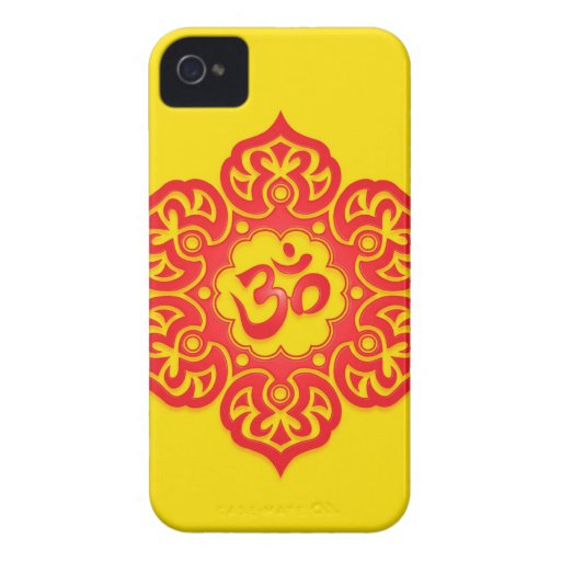 Floral Aum Design - Red and Yellow Blackberry Bold Cases