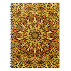 Floral Autumn Garden Mandala Notebook
