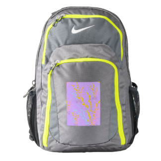 Floral Awareness Ribbons on Lilac Purple Backpack