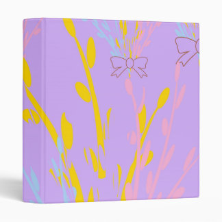 Floral Awareness Ribbons on Lilac Purple Binder