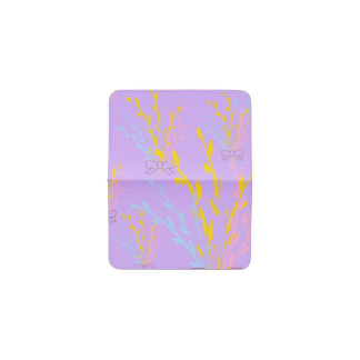 Floral Awareness Ribbons on Lilac Purple Business Card Holder