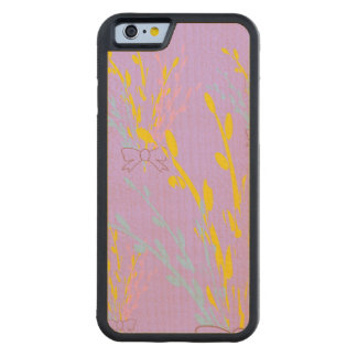 Floral Awareness Ribbons on Lilac Purple Carved Maple iPhone 6 Bumper Case