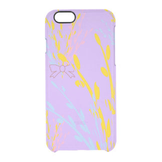 Floral Awareness Ribbons on Lilac Purple Clear iPhone 6/6S Case