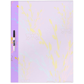 Floral Awareness Ribbons on Lilac Purple Dry Erase Board