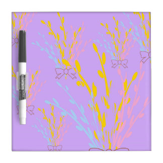 Floral Awareness Ribbons on Lilac Purple Dry-Erase Board