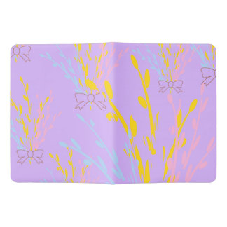 Floral Awareness Ribbons on Lilac Purple Extra Large Moleskine Notebook