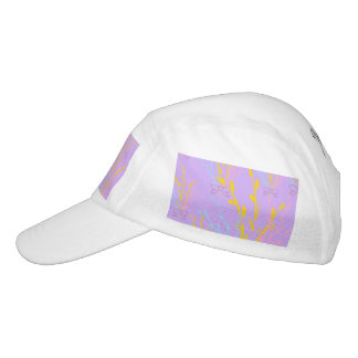 Floral Awareness Ribbons on Lilac Purple Hat