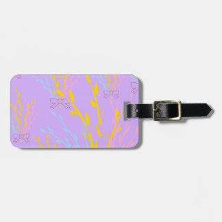Floral Awareness Ribbons on Lilac Purple Luggage Tag