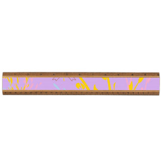 Floral Awareness Ribbons on Lilac Purple Ruler