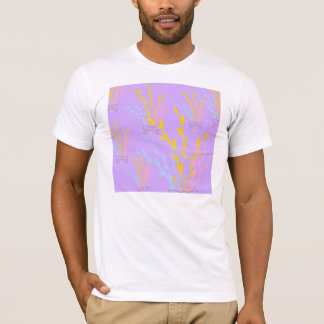 Floral Awareness Ribbons on Lilac Purple T-Shirt